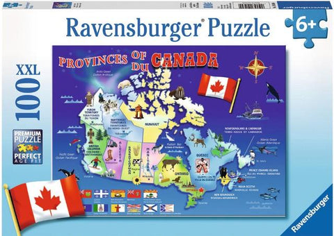 Ravensburger Puzzle Map of Canada, 100 Piece