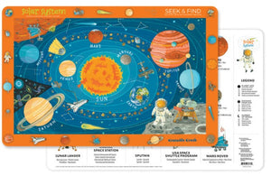 Crocodile Creek Two-Sided Placemat Solar System