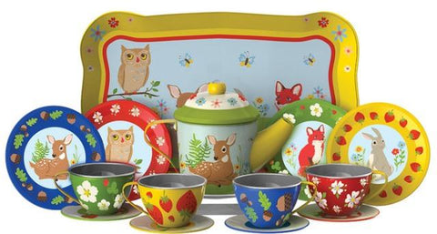 Tin Tea Set Forest Friends