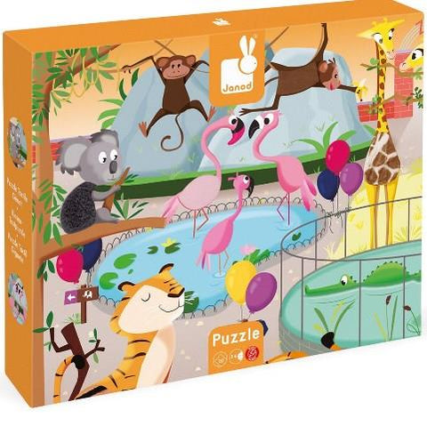 Janod Tactile Puzzle - A Day at the Zoo
