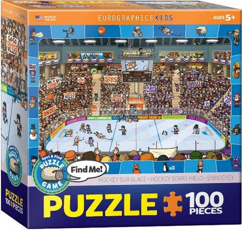 Eurographics Puzzle Spot & Find Hockey, 100 Piece