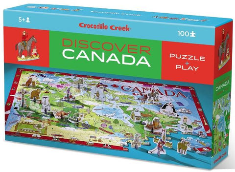 Crocodile Creek Puzzle Discover Canada Learn & Play, 100 Piece