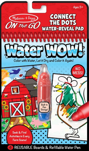 Melissa & Doug On the Go Water Wow Connect the Dots Farm