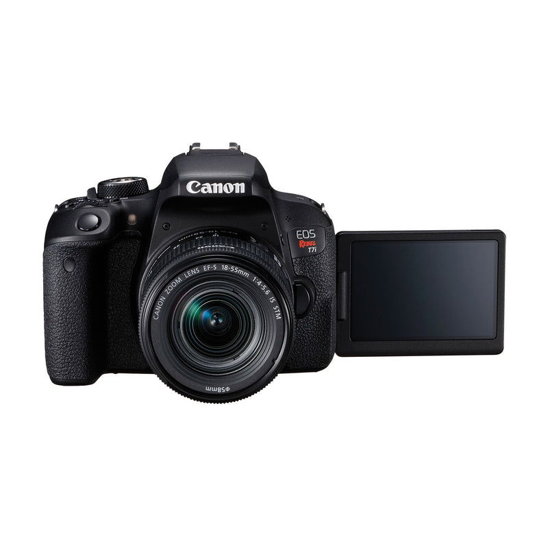 Canon EOS Rebel T7i 24.2 MP DSLR Camera with 18-55mm Lens (1 Year Warranty) - Open Box