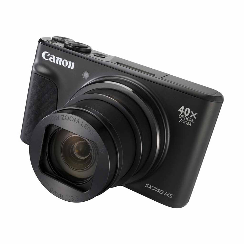 Canon Powershot SX740 HS 20.3MP 40x Optical Zoom Digital Camera - Black (6 Month Warranty) - Open Box