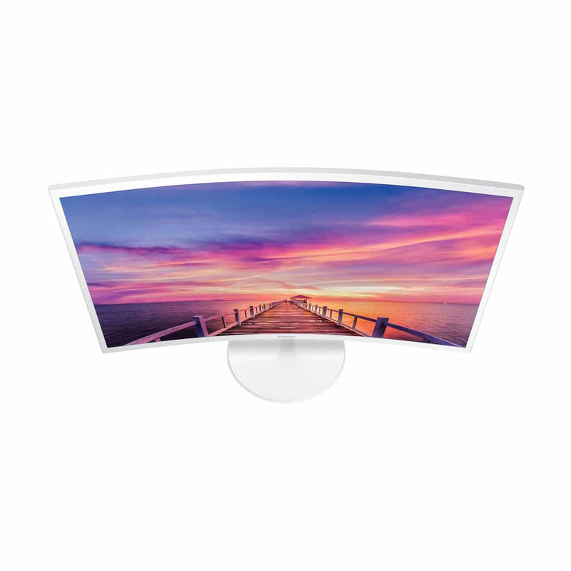 "Samsung 32"" 60Hz 4ms Curved PLS LED Monitor - White (LC32F391FWNXZA) (1 Year Warranty) - Open Box"