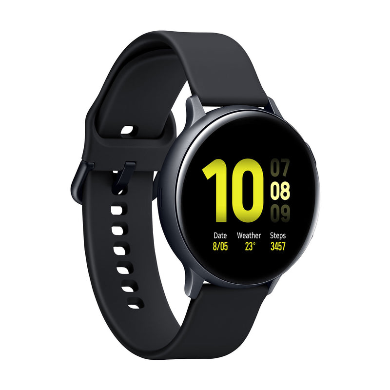 Samsung Galaxy Watch Active2, SM-R820, Bluetooth Smartwatch (Aluminum, 44mm, Aqua Black) (1 Year Warranty) - Open Box