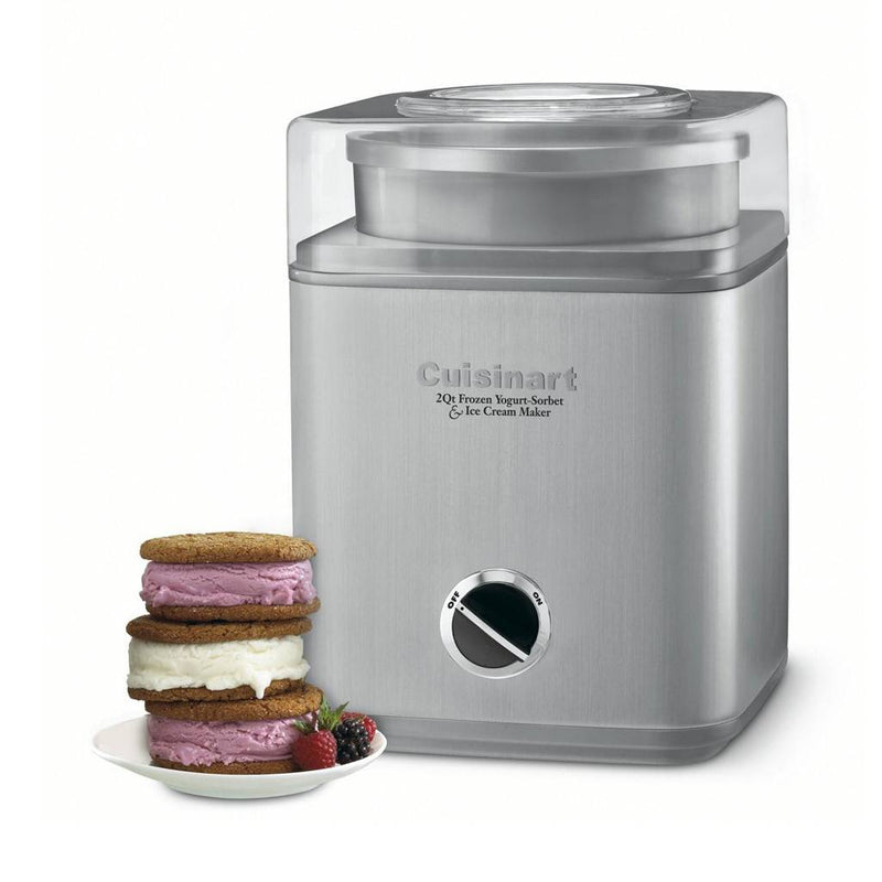 Cuisinart ICE-30BCC Pure Indulgence Gelato, Ice Cream and Sorbet Maker - Silver (Manufacturer Refurbished / 6 Month Warranty)