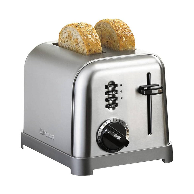 Cuisinart CPT-160 2-Slice Metal Classic Toaster - Brushed Stainless (Manufacturer Refurbished / 6 Month Warranty)