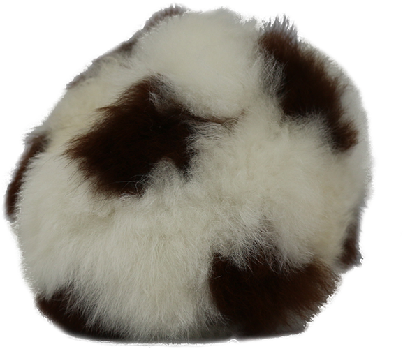 100% Alpaca Fur Stuffed Soccer Ball