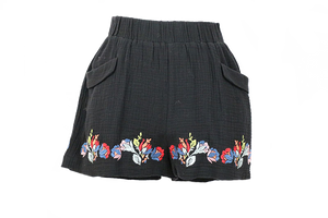 See & Be Seen Embroidered Shorts