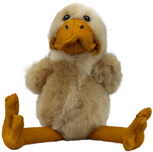 100% Alpaca Fur Sitting Duck Toy