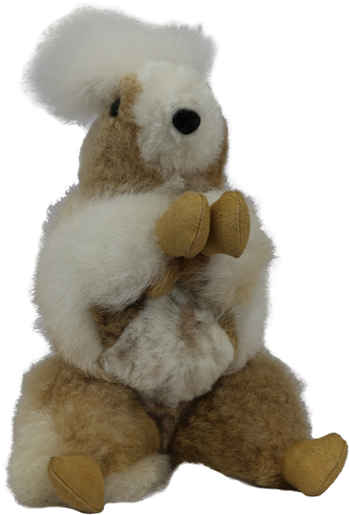 100% Alpaca Fur Rocky The Squirrel Stuffed Toy