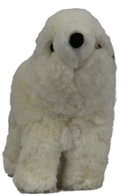 Load image into Gallery viewer, 100% Alpaca Fur Stuffed Polar Bear