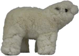 100% Alpaca Fur Stuffed Polar Bear