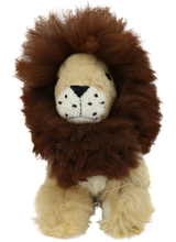 Load image into Gallery viewer, 100% Alpaca Fur Stuffed Lion Medium