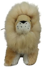 Load image into Gallery viewer, 100% Alpaca Fur Stuffed Lion Large