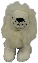 Load image into Gallery viewer, 100% Alpaca Fur Stuffed Lion Small