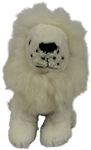 100% Alpaca Fur Stuffed Lion Medium