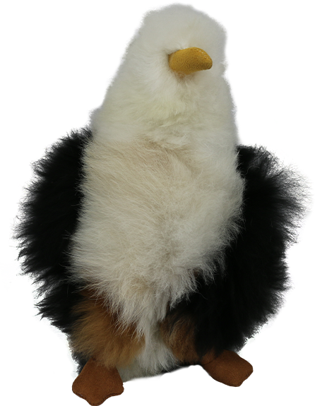 100% Alpaca Fur Stuffed Eagle