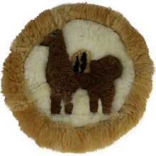 "Load image into Gallery viewer, Stylish Llama Rug 18"" Diameter"