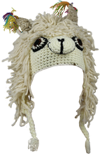 Load image into Gallery viewer, Crochet Llama Hat