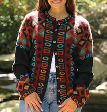 Load image into Gallery viewer, Kerri Geometric Alpaca Sweater