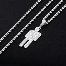 Load image into Gallery viewer, GR8 APE Crooked Head Iced Out Pendant and Rope Chain