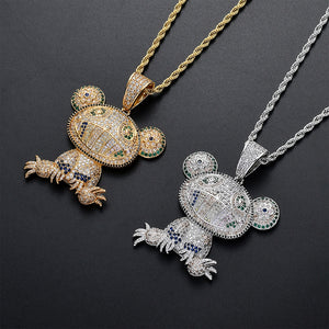 GR8 APE Icy Frog Pendant and Chain