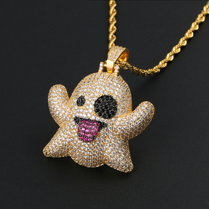 GR8 APE Ice Ghost Pendant and Rope Chain