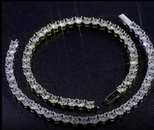 Load and play video in Gallery viewer, Cubic Zirconia Diamond Tennis Bracelet