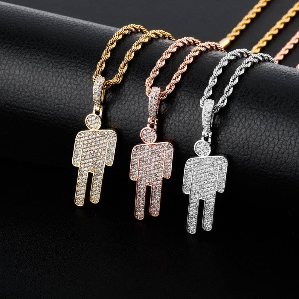 GR8 APE Crooked Head Iced Out Pendant and Rope Chain