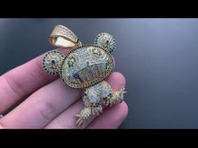 Load and play video in Gallery viewer, GR8 APE Icy Frog Pendant and Chain