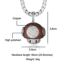 Load image into Gallery viewer, GR8 APE Ice Mushroom Pendant and Diamond Chain
