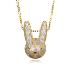 Load image into Gallery viewer, GR8 APE Snow Bunny Pendant and Chain