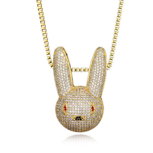GR8 APE Snow Bunny Pendant and Chain