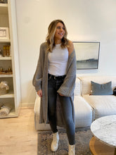 Load image into Gallery viewer, Balloon Sleeve long cardigan