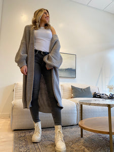 Balloon Sleeve long cardigan