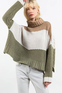 Camel Multi Sweater