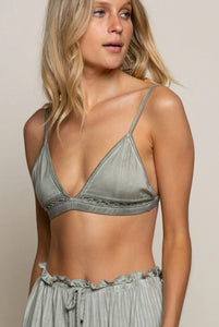 Olive Crochet Detailed Bralette