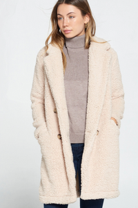 Loose fit Sherpa Fuzzy Coat