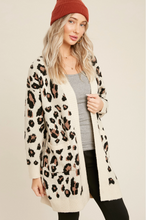 Load image into Gallery viewer, Open front leopard Cardigan