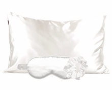 Load image into Gallery viewer, Ivory Satin Sleep Set