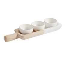 Load image into Gallery viewer, Paulownia Tray & Dip Set
