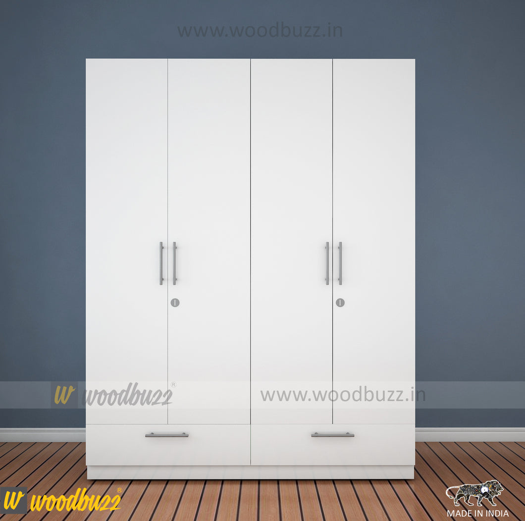 Wardrobe 1600 mm wide - woodbuzz.in