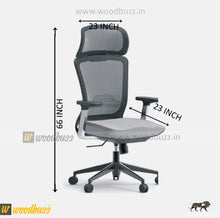 Load image into Gallery viewer, Ergonomic Chair- ZU (High Back) - woodbuzz.in