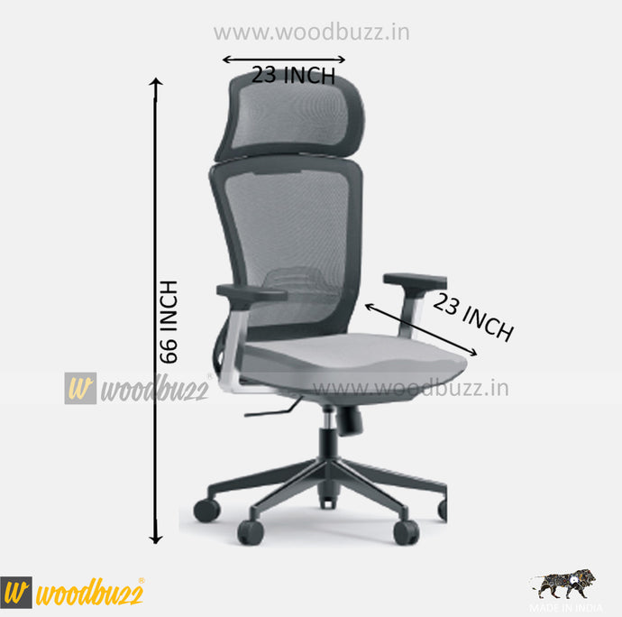 Ergonomic Chair- ZU (High Back) - woodbuzz.in