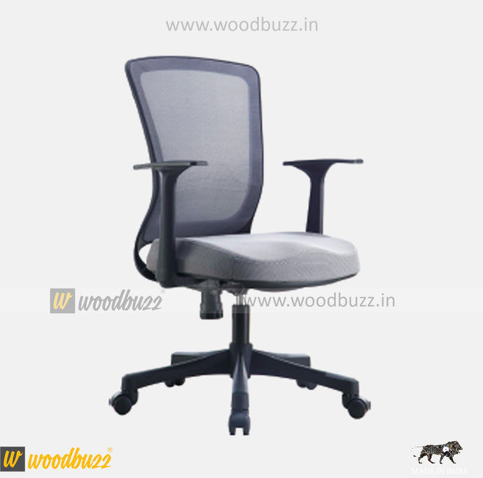 Ergonomic Chair- ZU (Medium Back) - woodbuzz.in