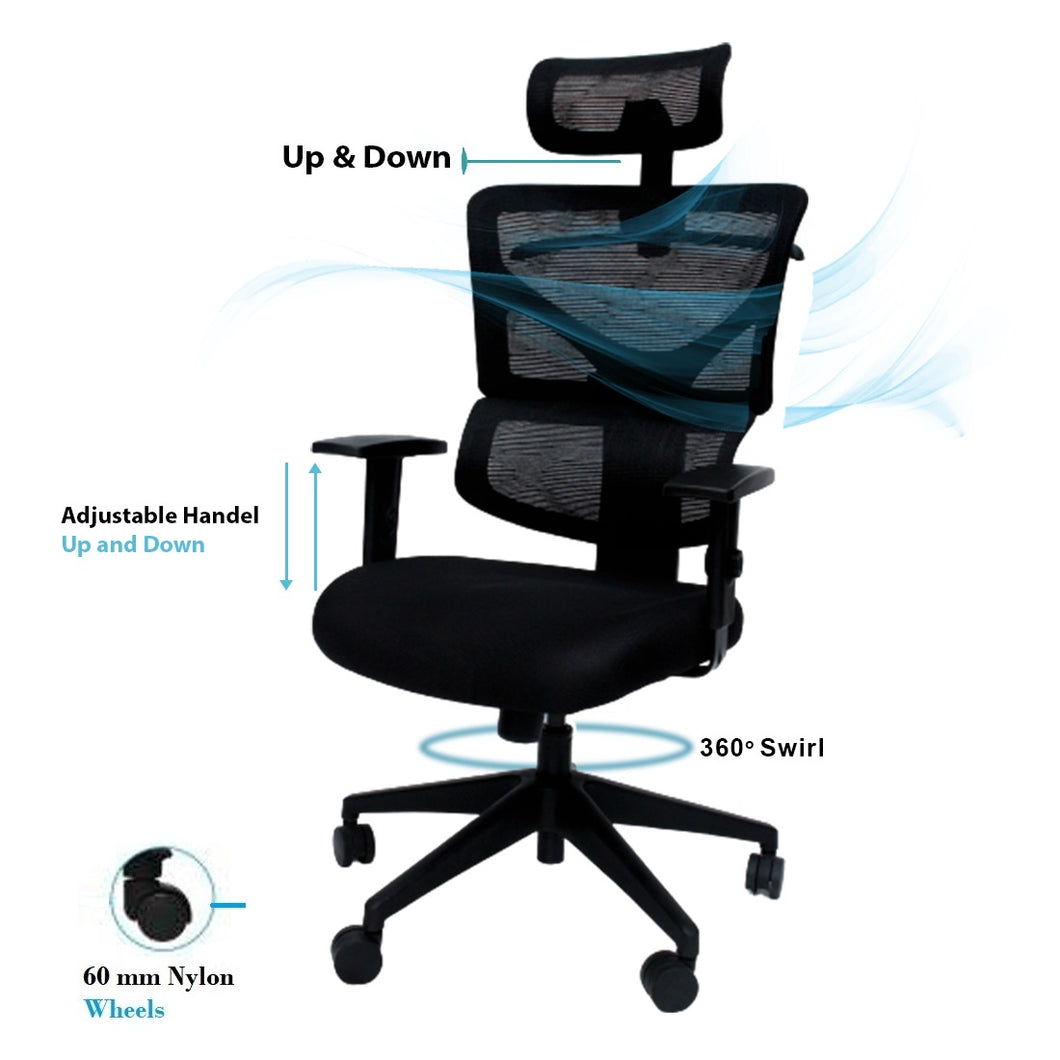 Ergonomic Chair- Alexa (High Back) - woodbuzz.in