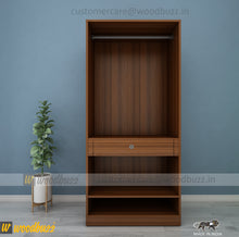 Load image into Gallery viewer, Wardrobe 900 mm wide - woodbuzz.in